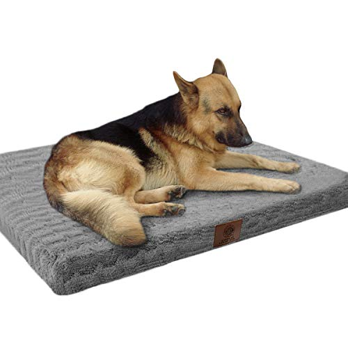 "American Kennel Club Orthopedic Crate Mat, 42 by 27"", Gray (AKC 6470- Gray)"