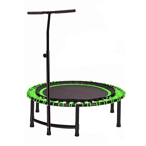 Trampolino fitness HUO Trampolino Elastico Fitness Trampolino Professionale con Maniglia Trampoline Super Jump Training Trampolino Elastico Fitness (Color : Green)