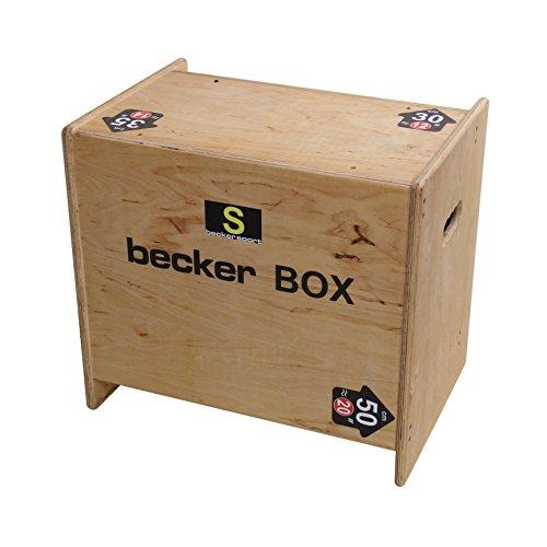 Becker-Sport Germany Becker Box S Weltneuheit, 5 in 1 Box, (BSG 28952) einzigartige Plyo Box mit 5 Sprunghöhen