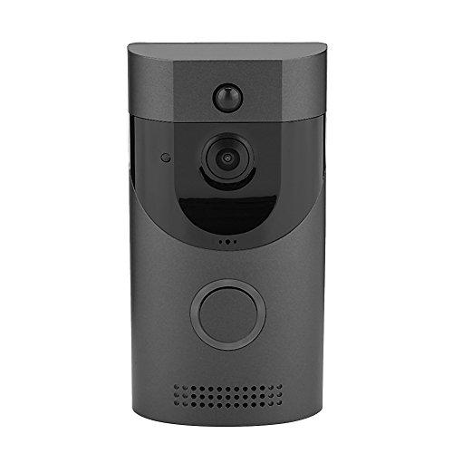 Timbre Inalámbrico - Timbre Inteligente Inalámbrico Wifi Delaman, Detección pir de Video Intercomunicador, Visión Nocturna Ir, para Seguridad Doméstica (Sin Batería)