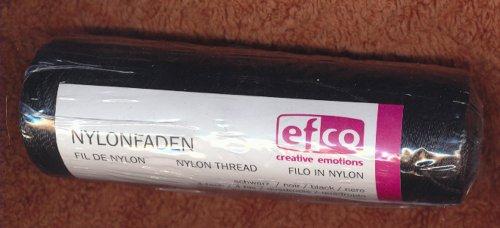 Inconnu Efco Fil Polyamide Double Filetage, Noir, 50 g