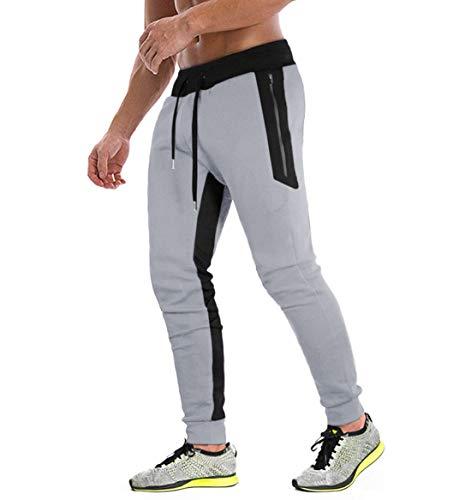 KEFITEVD Men's Jogging Trousers Elastic Yoga Sweatpants Comfortable...