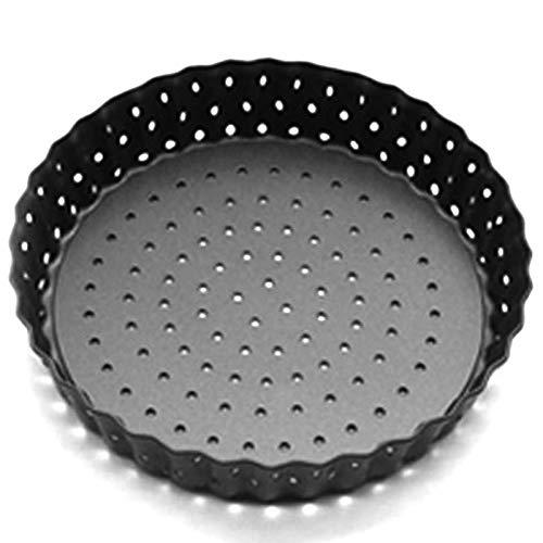 Viudecce Bandejas de Pizza Perforadas Antiadherentes de Metal de 5 Pulgadas SartéN para Pasteles Bandeja de Quiche con Fondo ExtraíBle