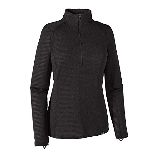 Patagonia Cap Tw Zip Neck Damen T-Shirt M Schwarz