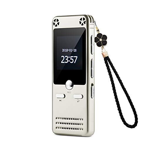 16GB Portable Audio Recorder IIDA Voice Activated Sound Recorder with FM Radio MP3 Player USB Flash Drive Passward Line-in Playback A-B Repeat Recording Device for lectures Meeting Interview Speech