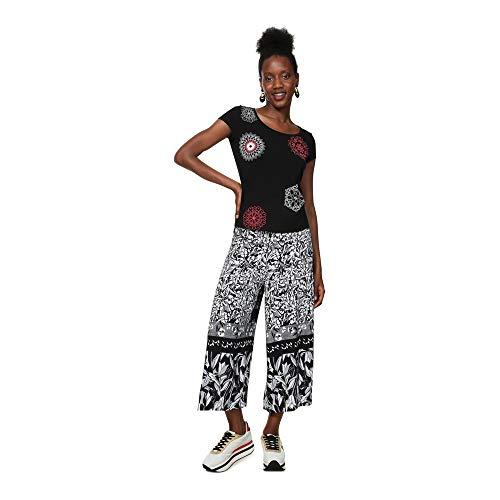 Desigual T-Shirt Short Sleeve Sonja Woman Black Camiseta, Negro (Negro 2000), XS para Mujer