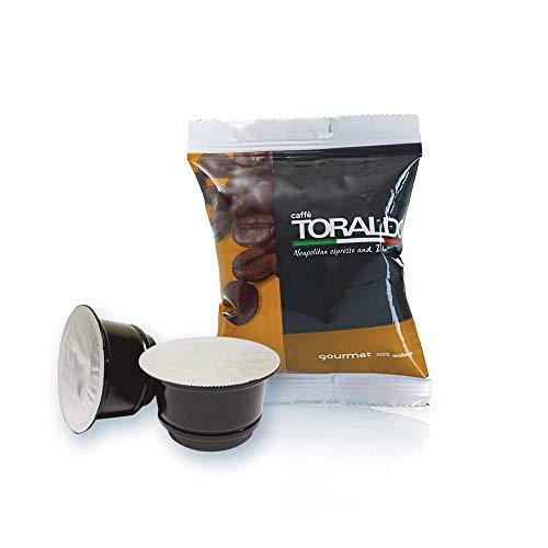 Caffè Toraldo Scatola Capsule Compatible Caffitaly System Gourmet Napoletano Caffè Espresso - 100 Pezzi