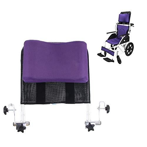 HEWYHAT Rollstuhl Kopfstütze Nackenstütze Kopfpolster Verstellbare Höhe Und Winkel & Portable Für Erwachsene Reise Rollstuhl (Sitzbreite 16