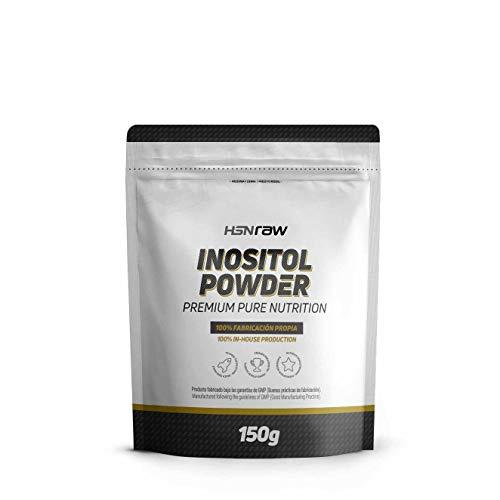 Inositol en Polvo de HSN | Vitamina B8 | 100% Natural | Para el SOP (Síndrome Ovario Poliquístico) | Uso para el Apoyo Cognitivo | Vegano, Sin Gluten, Sin Lactosa, 150g
