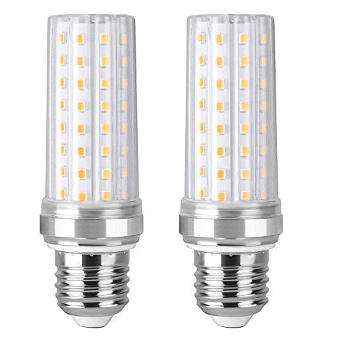 Nakital LED Maíz Bombillas 3500K LED Candelabros bombillas Equivalente LED E27 24W Incandescente Bombilla 150W 2000Lm LED vela Bombillas No regulables2 Packs E27 Calida Calido