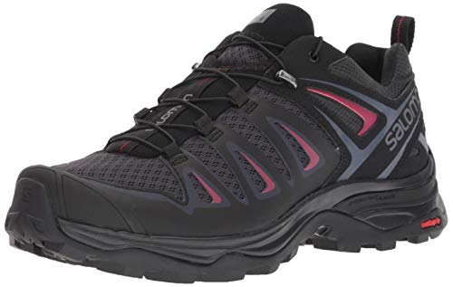 Salomon Women's X Ultra 3 Hiking Shoes, Graphite/Black/Citronelle, 10.5