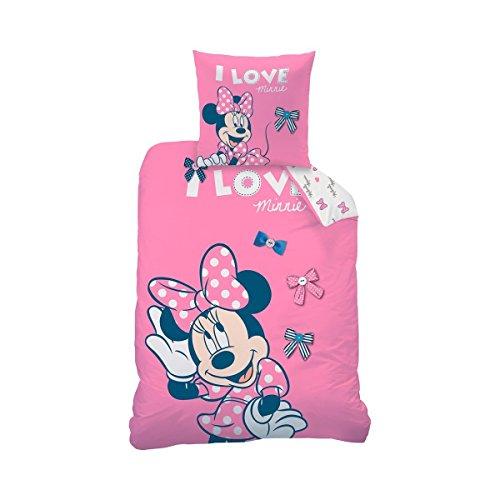 Disney Minnie Parure de lit en Flanelle Rose 135 x 200 cm