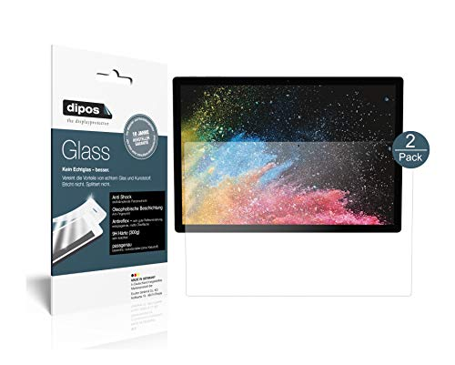 dipos I 2X Panzerfolie matt kompatibel mit Microsoft Surface Book 3 15 Zoll Schutzfolie 9H Bildschirmschutz-Folie