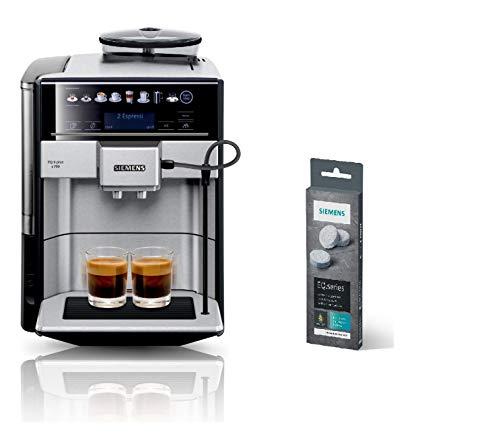 Siemens EQ.6 plus s700 Kaffeevollautomat TE657503DE, automatische Reinigung, Direktwahl + Reinigungstabletten TZ80001A, gründliche Reinigung, perfektes Aroma, für Kaffeevollautomaten der EQ.Serie