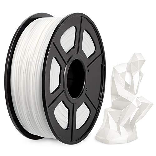PLA Filament 1.75mm, PLA 3D Printer Filament, Enotepad PLA Filament 1KG (2.2 LBS) Spool, Dimensional Accuracy +/- 0.02mm, PLA White