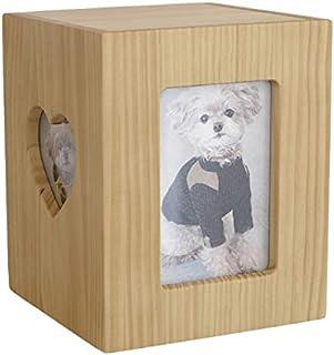 【Amazon商品】【ディアペット限定】 国産 ペット仏壇 クリメイションボックス ハート 4寸骨壷まで(ナチュラルウッド)