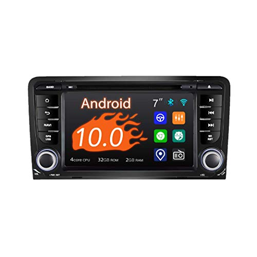 Car stereo, 2 Din for Audi A3 S3, 7