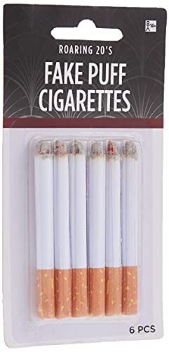 6-Piece Fake Puff Cigarettes | One Size | White | 1 Pack