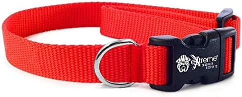Extreme Consumer Products Rugged Nylon Dog Collar RED The Heavy Duty Adjustable Dog Collar 3 product image