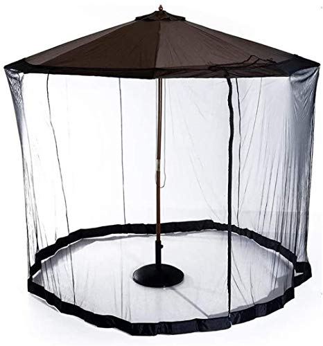 Outdoor Umbrella Parasol Mosquito Net Umbrella Cover Mosquito Netting Screen Parasol Converter Cover Turn Your Parasol into a Gazebo(Side Net Only) Bug Netting Cover