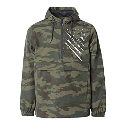 Tactical Pro Supply Anorak Camouflage Jackets - Three Panel Hood Blizzard Neck Water Resistant Elastic Cuffs 100% Nylon Metal Zipper- for Hunting Military Army Outdoor Travel All Season-Camo(X-Large) by