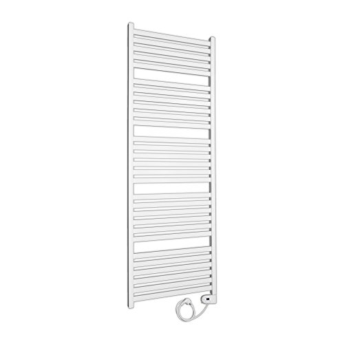 Design Badheizkörper elektrisch mit digitalem Thermostat komplett befüllt Handtuchheizkörper 1748x600 weiß elektro