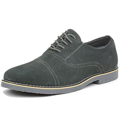 Alpine Swiss Ashton Mens Dress Shoes Genuine Suede Lace Up Oxfords Gray 11 M US