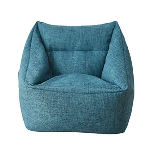 Cubierta de sofá de la silla de la bolsa de frijol lavable, cremallera oculta, cubierta de silla suave de la espalda alta, con algodón suave y material de lino, utilizado para tatami / dormitorio / so