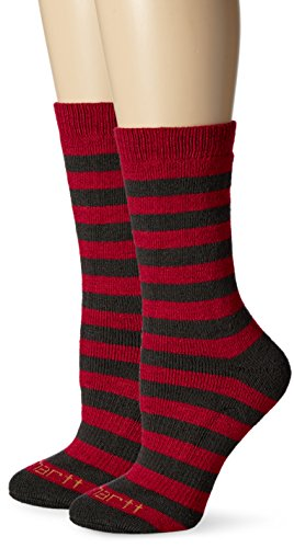 Carhartt Women's 2 Pack Arctic Thermal Crew Socks, Charcoal Heather, Shoe Size: 5.5-11.5