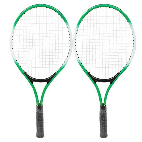 Velaurs Raqueta de Tenis, Raqueta de Tenis para niños Resistente al Desgaste, Entrenamiento para Almacenamiento, Transporte, Entrenamiento(Green)