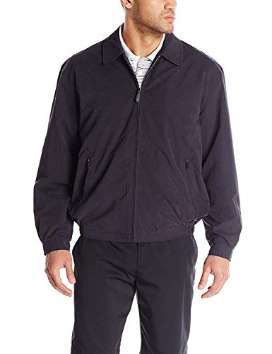 London Fog Men's Auburn Zip-Front Golf Jacket (Regular & Big-Tall Sizes), Navy, Large