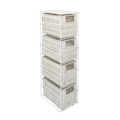 4 Drawer Resin Tower Storage Unit - White