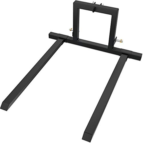 YINTATECH 3 Point Hitch Pallet Fork 1500 lbs Capacity Adjustable Pallet Fork Attachments for Category 1 Tractor