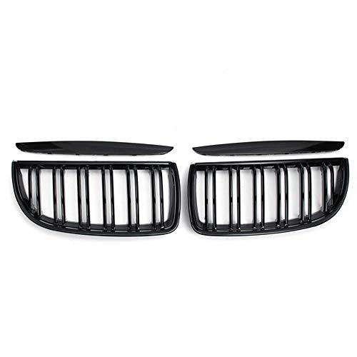 YJSZJY Coche Ridney Grille, Un Par De Listones Dobles Negros De Brillo para E90 E91 3 Series 320I 325I 328I 2005-2008 Accesorios para Automóviles,Gloss Black 2 Line