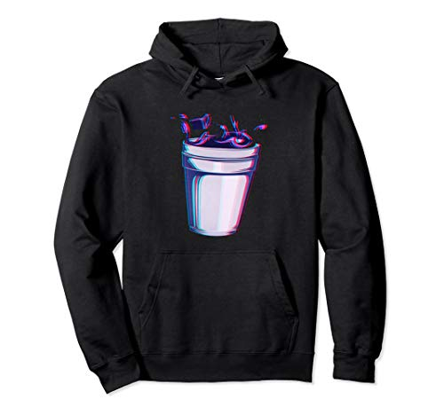 Purple Drank Codein Glitchy Hustensaft Lean Double Cup Pullover Hoodie