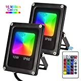 Karpal Foco LED RGB 10W (2 Pack), RGB LED Foco de...