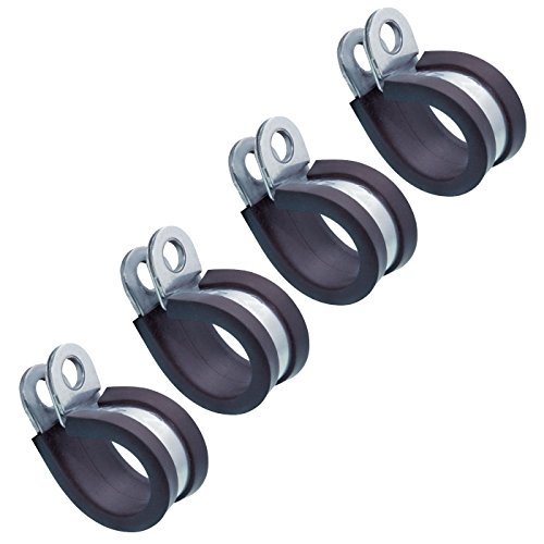 4 Stück Rohrschelle mit Gummieinlage Ø 38 mm - Edelstahl A2-AISI 304 incl. Knotentafel