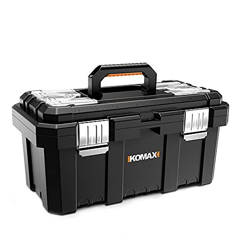 Caja de herramientas de plástico impermeable almacenamiento de garaje estuche rígido hardware de electricista portátil organizador de herramientas maleta para el hogar