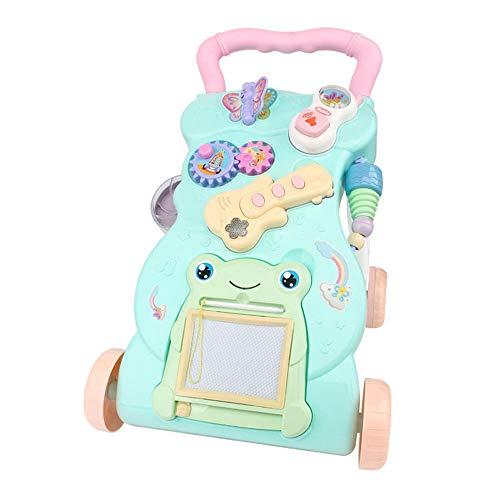 Lihgfw Baby Walker Spielzeug für Mädchen und Jungen von 9 Monaten bis 3 Jahre, Baby Wanderer, Push-Push-Kinderwagen für Kleinkinder (Color : Blau)