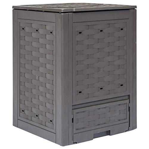 Check Out This Unfade Memory Garden Rattan Look Composter Bin Perfect Option to Collect Organic Wast...