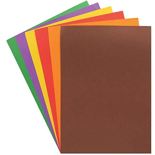 Baker Ross AX392 Sparpackung DIN-A4 Bastelpapier in Herbstfarben - 100 Stück, Künstler- und Bastelbedarf für Kinder zum Dekorieren zur Weihnachtszeit