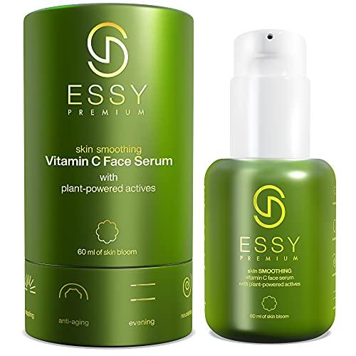 Vitamin C Serum Gesicht mit Hyaluron Serum 60ml Vitamin E Jojobaöl Aloe Vera Anti Falten Anti Aging Vitamin C Serum Hochdosiert