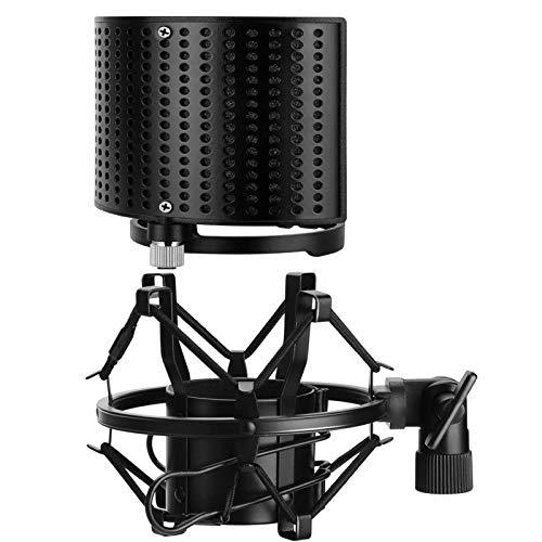 Mikrofon Windschutz für 49-54mm, Moukey Mikrofon Shock Mount Mic Pop Filter Schild U Typ für 49mm-70mm Mic zum Beispiel AT2020 AT4033 AT2050 AT2035 CAD U37-MMs-9