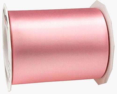 ADRIA Satin Tischband - Tischläufer, Farbe: hell-rosa. Rolle 25m x 112mm Breite. Lieferung Frei Haus.