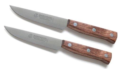 2 Stück Brotzeitmesser breit Bubinga # 82 45 03 Marsvogel Solingen Solinger Dünnschliff