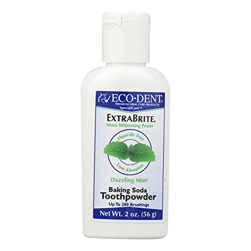 ECO-DENT Extra Brite Baking Soda Toothpowder Dazzling Mint, 2 Ounce