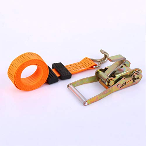 ZLQF sjorband, spanband, bevestigingsband, belastbaar tot 5000 kg, 5 cm X 5 M, oranje