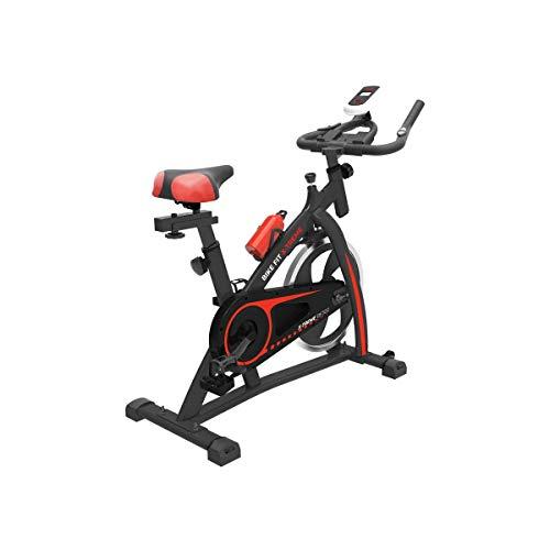 PRIXTON Bike Fit Spinning Xtreme - Bicicleta de Spinning Estatica Indoor Volante de inercia 6 Kg Manillar y Asiento Ajustable Rastrales Incluidos Hasta 120 Kg