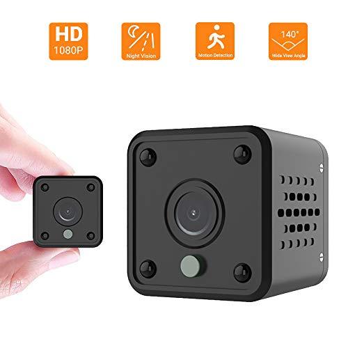 Mini Kamera - überwachungskamera WiFi 1080P HD Kamera Wireless Tragbar Nanny Cam Haustier Büro Garage Heim IR Nachtsicht 140° Weitwinkel Bewegungserkennung für IOS/Android