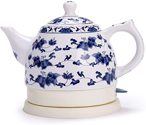 Vite, Céramique bouilloire électrique, sans fil d'eau Teapot 1 litre, sans fil automatique de mise hors tension rapide ébullition, rapide Brew thé, soupe café, Bureau, style vintage
